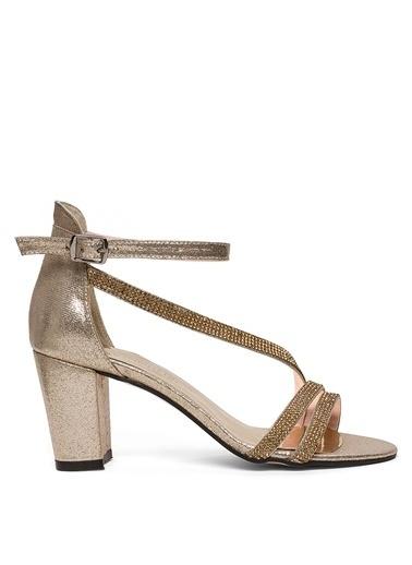 Sole Sisters Topuklu Sandalet Altın - Olivi2 Sarı